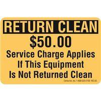 DECAL RETURN CLEAN $50 FEE