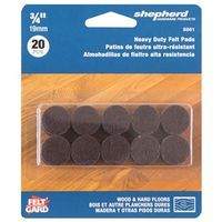 PAD FELT HD ADHESV BROWN 3/4IN