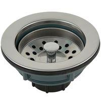 PlumbPak PP20665 Kitchen Basket Strainer With Stainless Steel Rim