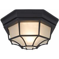 PORCH LIGHT CEILING BLK
