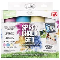 SPRAY CHALK ASSORTD COLORS 6OZ