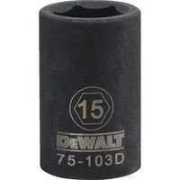 SOCKET IMPACT 1/2DR 6PT 15MM