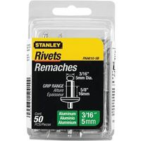 RIVET 3/16X5/8IN ALUMINUM 50PK