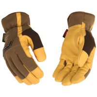 GLOVES SYNTHETIC BROWN MEDIUM