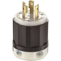 Leviton 021-02321-0PB Locking Plug With Removable Insert