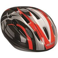 HELMET ADULT BLACK W/REDSILVER