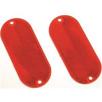 Hy-Ko CORB-7R Oval Safety Reflector 4-3/8 in L