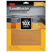 SANDPAPER GRIP 320 9X11IN 4SHT