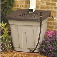 RAIN BARREL W/LID RESIN 50 GAL