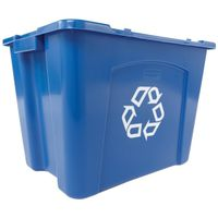 RECYCLE BOX 14GAL BLUE STACKNG