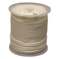 ROPE NYL SOL BR WHT 1/4X1000FT