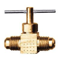 VALVE NEEDLE 3/8IN BRASS FLRE