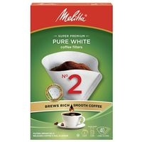 COFFEE FLTR WHT 40/PK