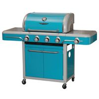 GRILL CART 4-BURNER VINT BLUE