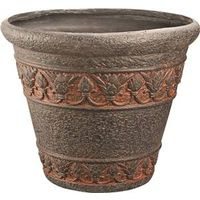 PLANTER ROUND AGED BRONZE 20IN