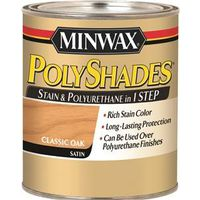 PolyShades 21370 One Step Oil Based Wood Stain and Polyurethane