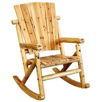 ROCKER CHAIR SINGLE ASPEN LOG