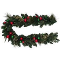 WREATH DECORATED RED/GRN 24IN