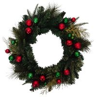 GARLAND DECORATED RED/GRN 6FT