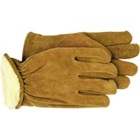 GLOVE SPLIT LEATHER LINED MED