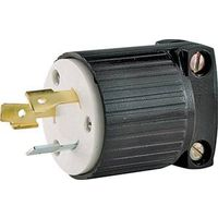 PLUG LOCKING BLACK 20A/125V
