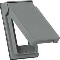 COVER 1G GFCI VERT OUTLET GREY