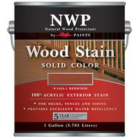 STAIN WOOD ACRY SLD-CLR RDWD G