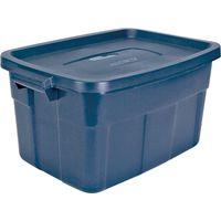 TOTE PLAST W/HNDL BLUE 14 GAL