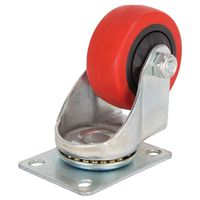 3IN SWIVEL PLATE PU CASTER