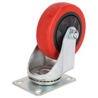 4IN SWIVEL PLATE PU CASTER