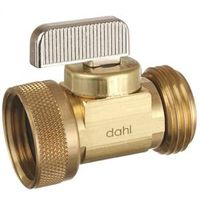 dahl mini-ball Quarter Turn Straight Hose and Boiler Drain Valve