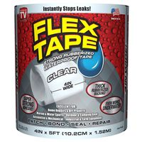 TAPE FLEX WTRPRF CLEAR 4INX5FT
