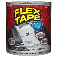TAPE FLEX WTRPRF GREY 4INX5FT