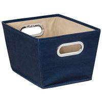 BIN STORAGE W/HANDLE SM BLUE