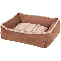 BED PET 35X27 LOUNGE DARK TAN