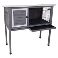 HUTCH RABBIT WOOD GRAY/WHITE
