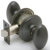 Schlage Siena F10 Decorative Egg Door Knob Lockset