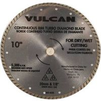 Vulcan 934161OR Turbo Continuous Rim Circular Saw Blade