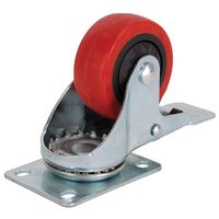 3IN SWIVEL CASTER W/BRAKE PU
