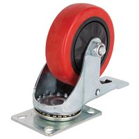 4IN SWIVEL CASTER W/BRAKE PU