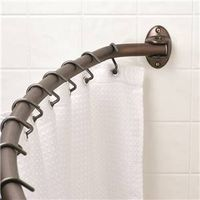 Zenith 35603HB04 Adjustable Curved Shower Curtain Rod