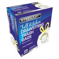 TRASH BAG DRAWSTRING 13G 120CT