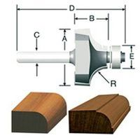 Vermont Silver 23129 Round over Beading Router Bit