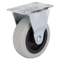 3IN TPR RIGID PLATE CASTER