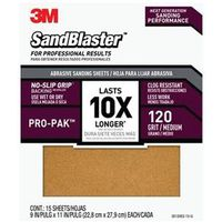SANDPAPER GRIP 120 9X11IN 15PK