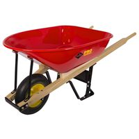 WHEELBARROW STL 6 CUFT 60 LB