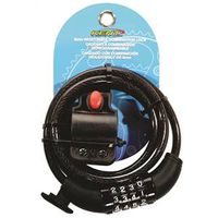 LOCK SET BICYC WITH CABLE COMB