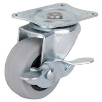 2IN TPR SWIVEL CASTER W/BRAKE