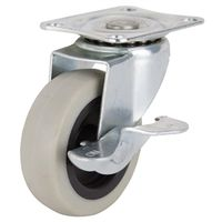 3IN TPR SWIVEL CASTER W/BRAKE