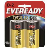 BATTERY ALKALINE GOLD 2-PACK/D